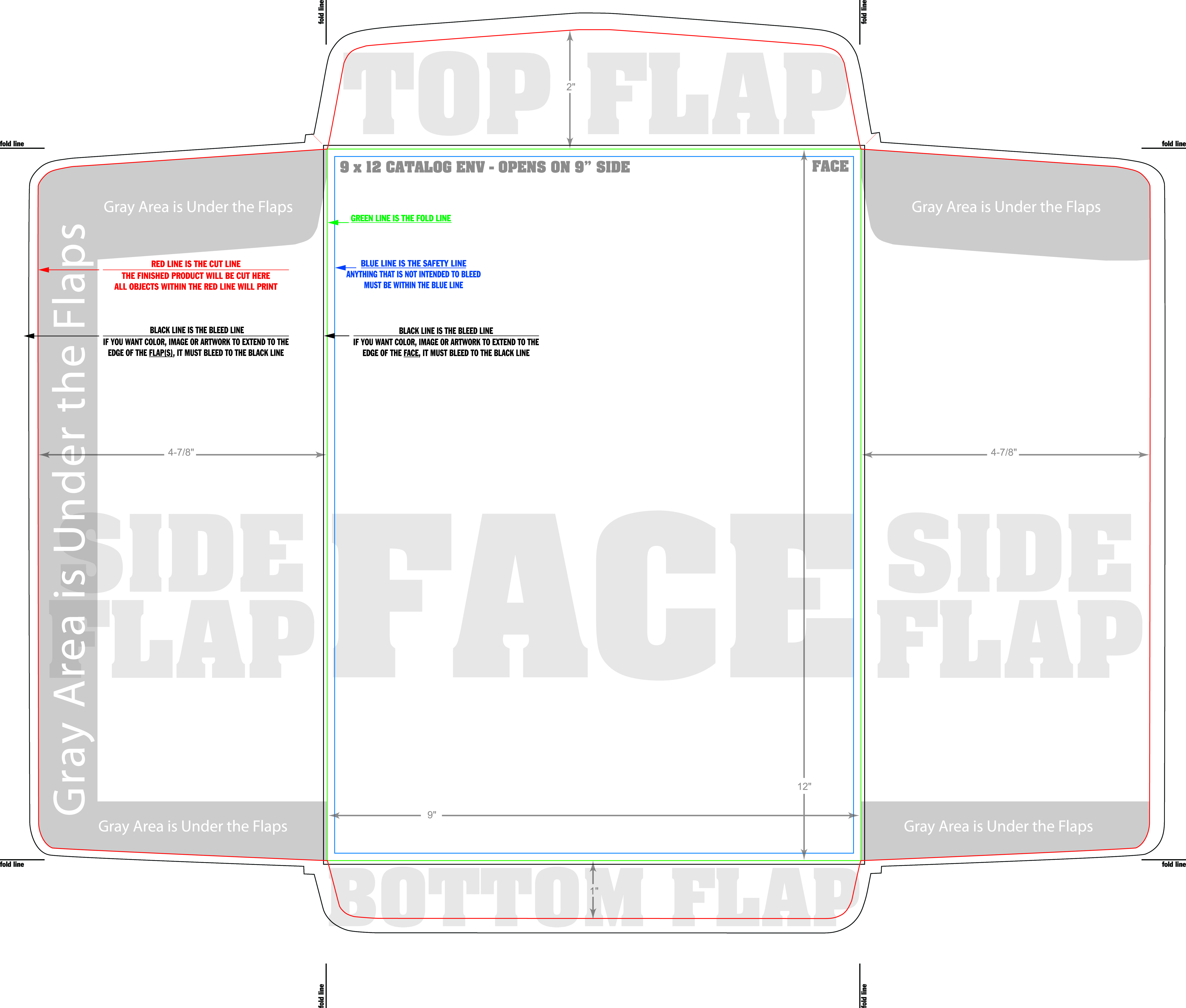 Design And Print Envelops Online With Free Ground Shipping - A1 envelope template