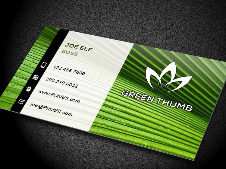 Free logo to download freelance entrepreneur green thumb Design business cards online free print home
