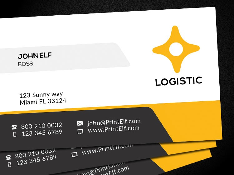 Free Business Card Design Logistic Corporate Freelance - Print at home business card template