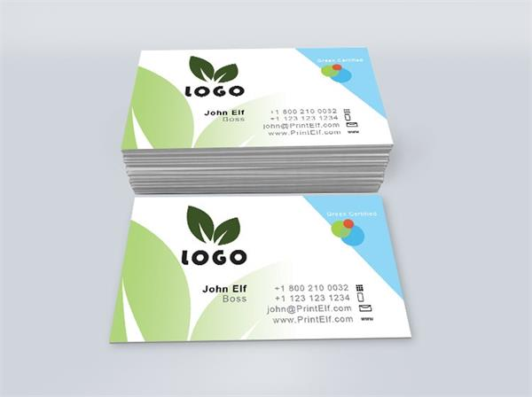 Green corporate business card design