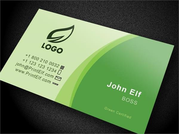 Green Classic business card