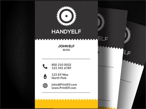 Handyman business card design