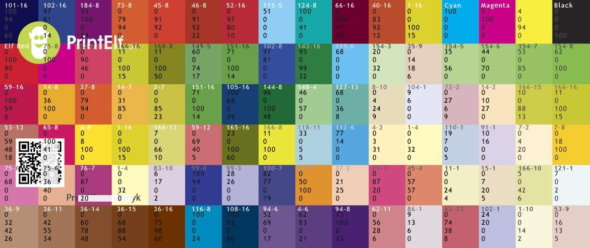 Pantone Color Chart Cmyk Softland