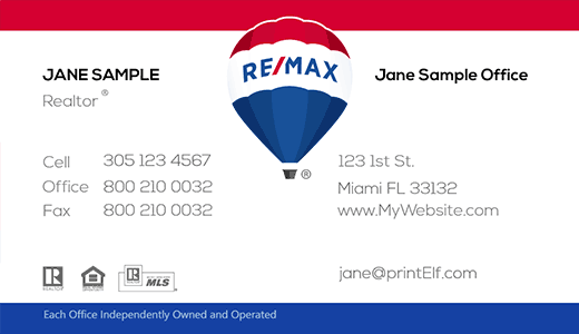 Remax business cards free designs remax business card design with hot air ballon cheaphphosting Images