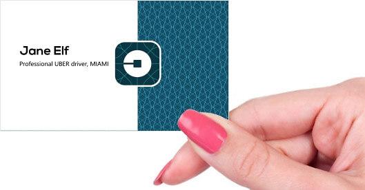 Uber Business Card Front on Uber Driver Logo