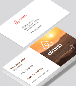 Airbnb business cards