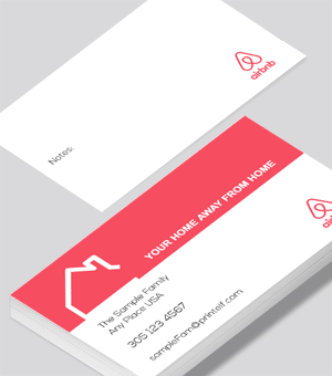 Airbnb vacation business card