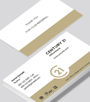 Century 21 Realtor Agent business card