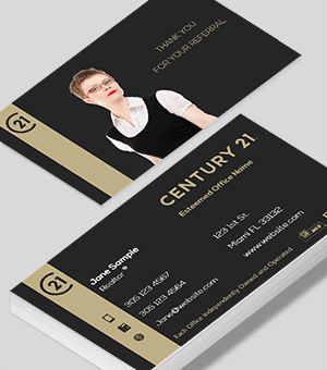 Century 21 Residential and commercial business card for Agents and Realtors