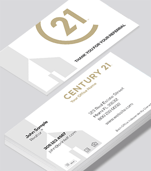 Century 21 Residential and Commercial business cards