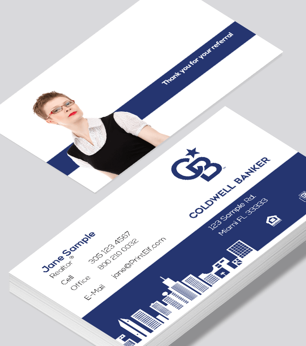 Modern contemporary business card design -Coldwell Banker downtown business card
