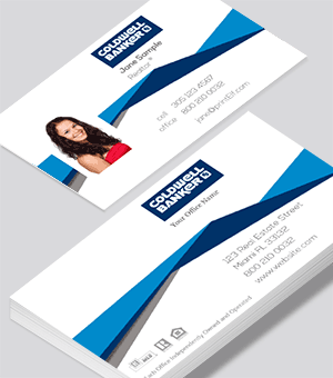 Coldwell banker modern roof line business card