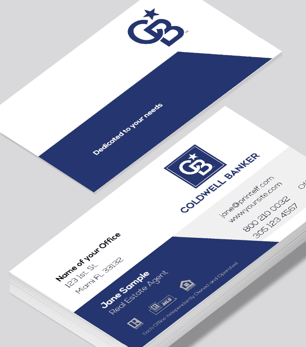 Modern contemporary business card design -Coldwell Banker rebranded business card