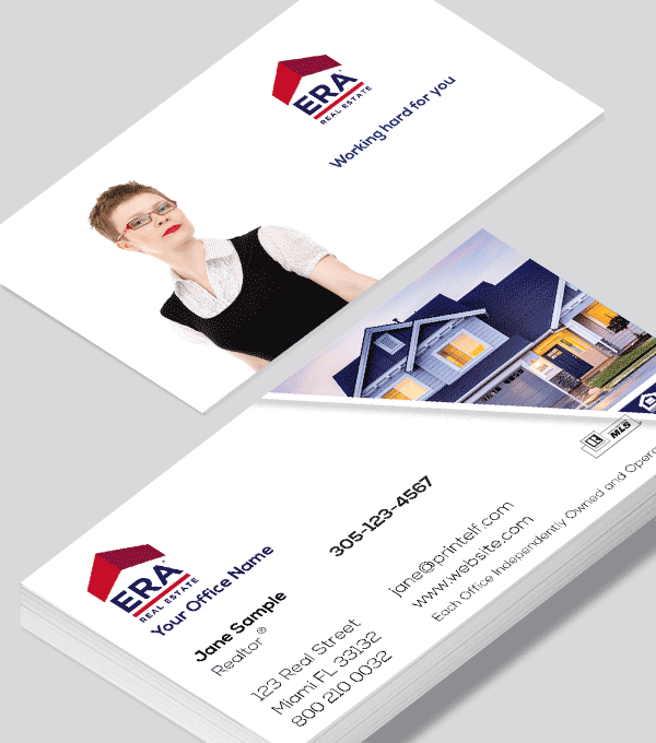 Modern contemporary business card design -ERA Real Estate residential business card