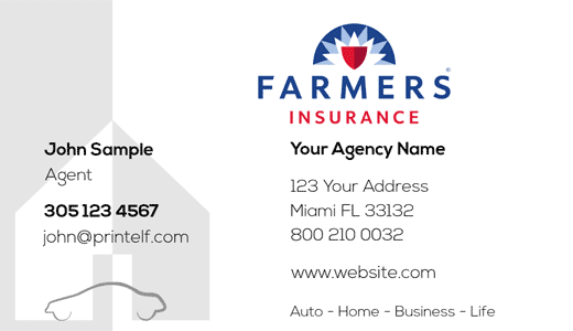 Modern design. Farmers Insurance  business cards