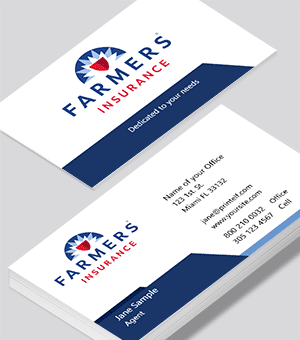 Farmers Insurance  business cards clean cut look