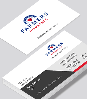 Farmers Insurance  business cards for life insurance