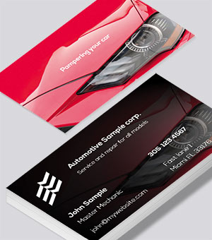 Pampering your auto business-card