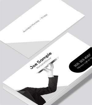 Personal driver service business card