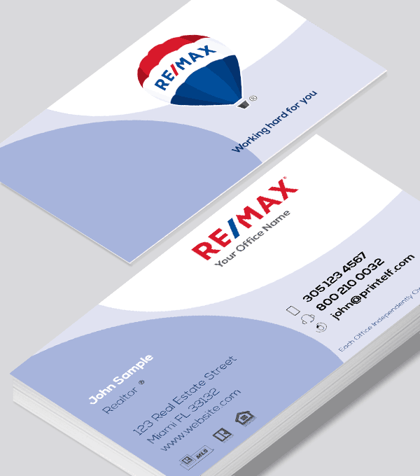 Modern contemporary business card design -Remax Development Business Card