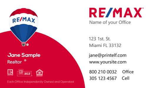 Modern design. Elegant business card design for ReMax