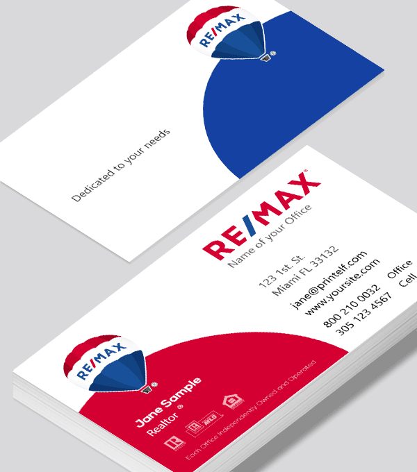 Modern contemporary business card design -ReMax elegant business card