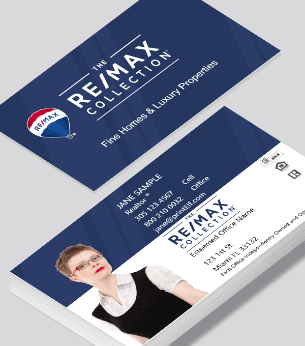 Modern contemporary business card design -ReMax Collection business card