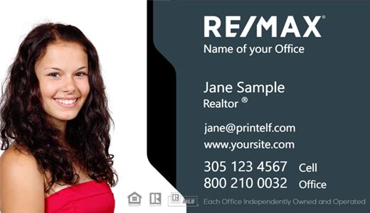 Modern design. High contrast business card design for ReMax