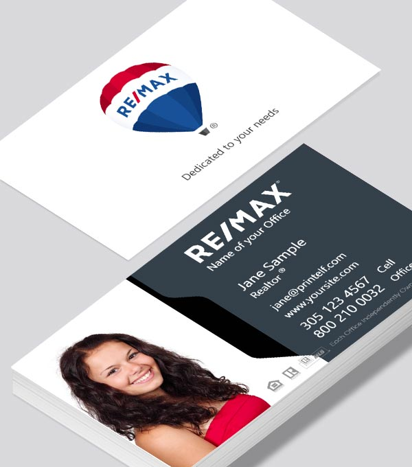 Modern contemporary business card design -ReMax-dark-white-business-card