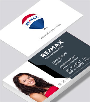 High contrast business card design for ReMax
