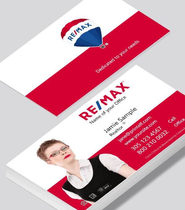 Modern contemporary business card design -ReMax dwelling business cards
