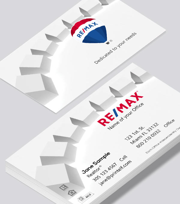 Modern contemporary business card design -ReMax homes business cards