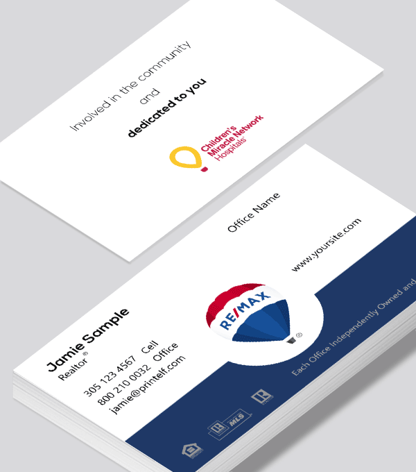 Modern contemporary business card design -Remax Miracle Network business card