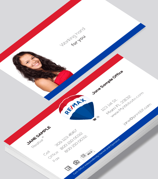 Modern contemporary business card design -ReMax classic balloon business card