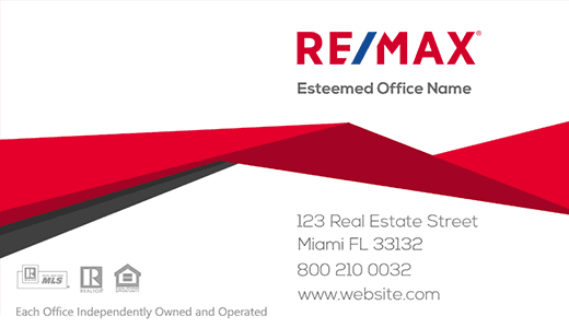 Modern design. Remax roof line business card. Modern and elegant