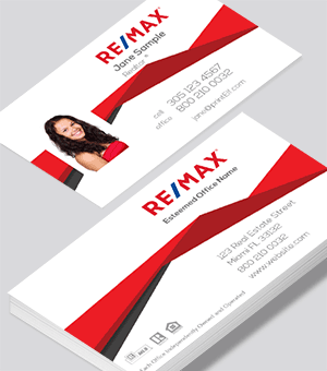 Remax roof line business card. Modern and elegant