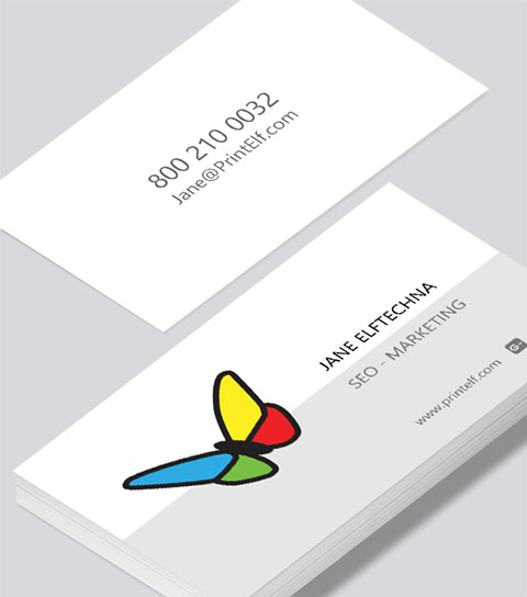 Modern contemporary business card design -SEO-Marketing business card