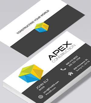 Apex Construction business card