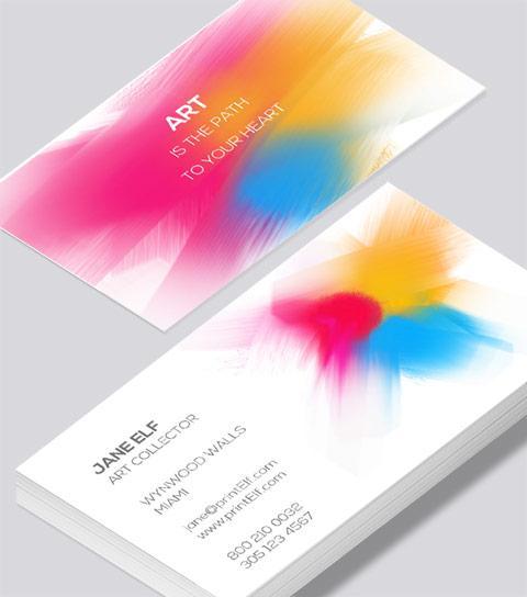 Art collector business card modern design art collector business card colourmoves
