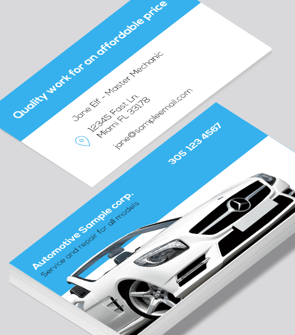 Modern contemporary business card design -Automotive body shop business card