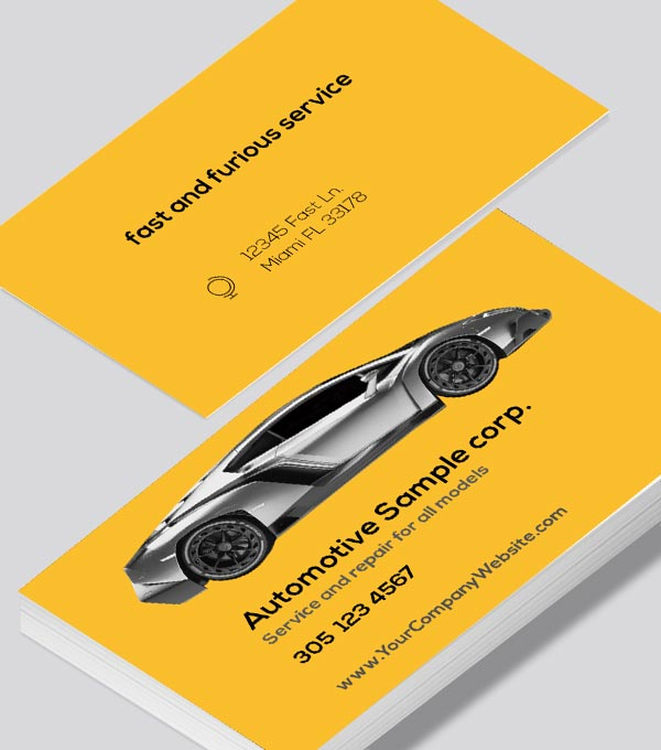 Modern contemporary business card design -Automotive repair business card