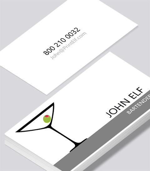 Bartender business card modern design bartender business card colourmoves