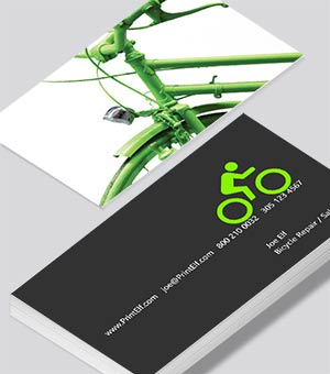 Bicycle Repair and Sales business card