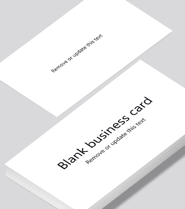 Blank Business Card Design