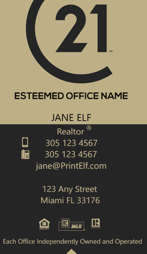 Modern design. Century 21 business cards for agents