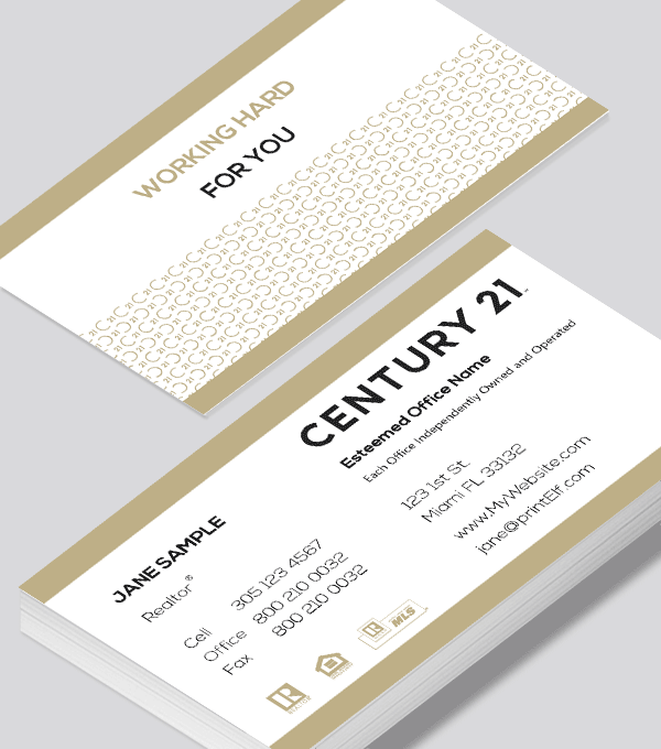 Modern contemporary business card design -Century 21 Classic business card