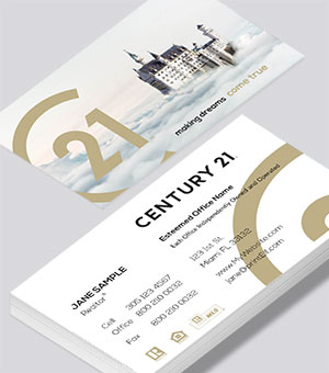 Century 21 dream house business card