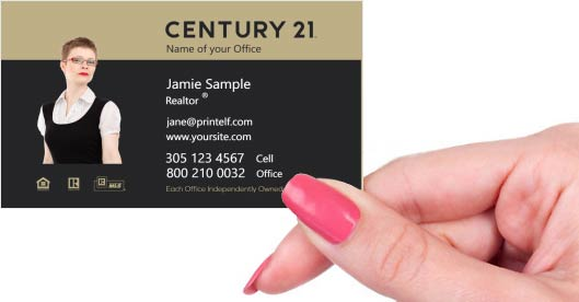 Hand holding business card - Century 21 Representative business card