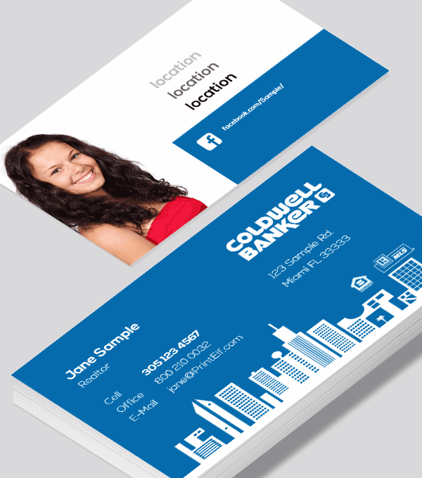 Modern contemporary business card design -Coldwell Banker Real Estate business card