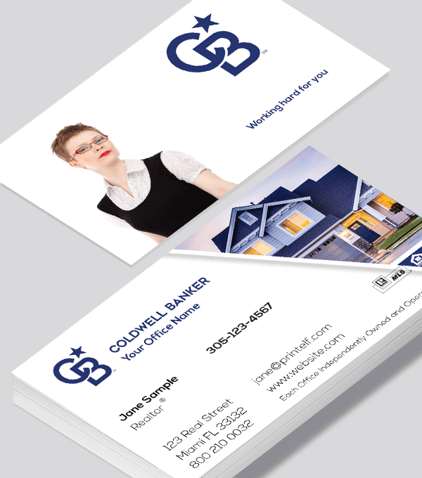 Modern contemporary business card design -Coldwell Banker residential business card